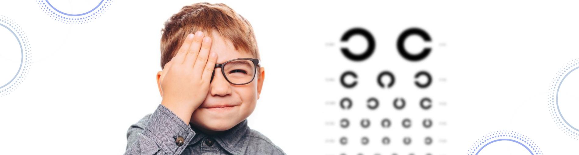 ד״ר רונית פרילינג מרפאת עיניים ילדים ילד שם יד על עין